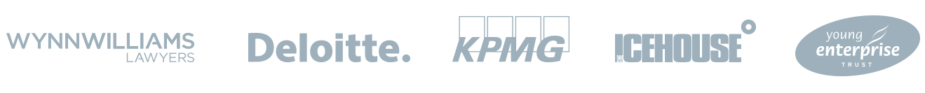 Partner logos - Wynn Williams, KPMG, Deloitte, Icehouse, Young Enterprise Trust